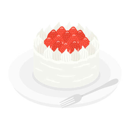 Illustration of a cake on a plate Stock Illustratie