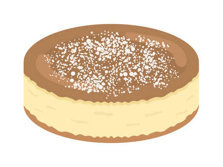 Illustration of cheesecake