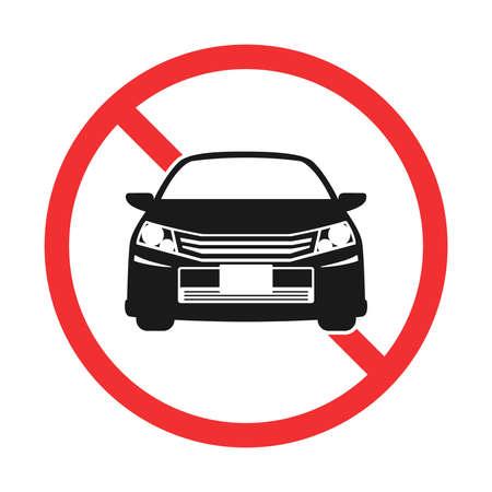 Illustration of the car prohibition mark