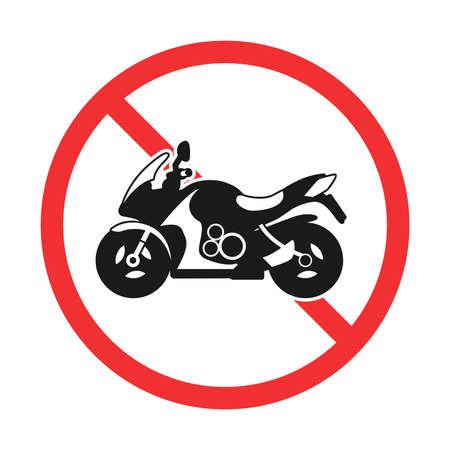 Illustration of bike prohibition mark