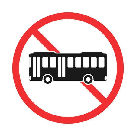 Illustration of bus prohibition mark Vettoriali