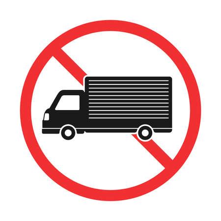 Illustration of the track prohibition mark