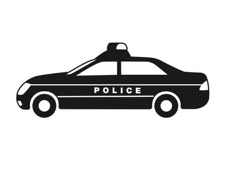 Icon illustration of a police car Vecteurs