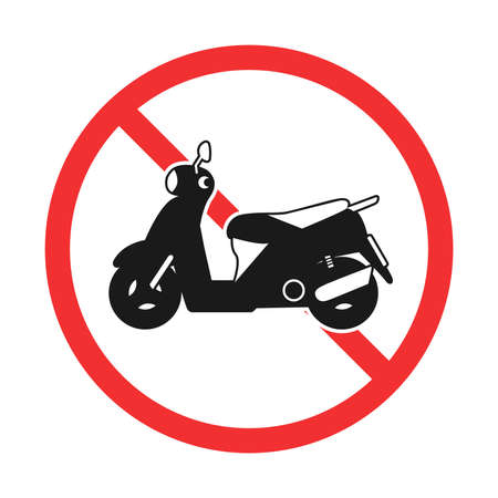Illustration of bike prohibition mark Stock Illustratie