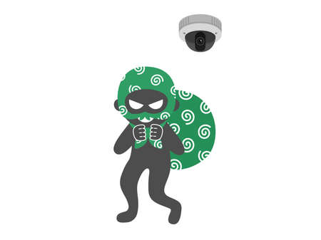 Illustration of an empty nest and a security camera