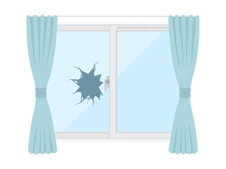 Illustration of a window glass