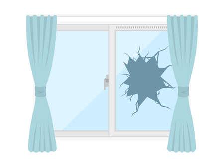 Illustration of broken windows