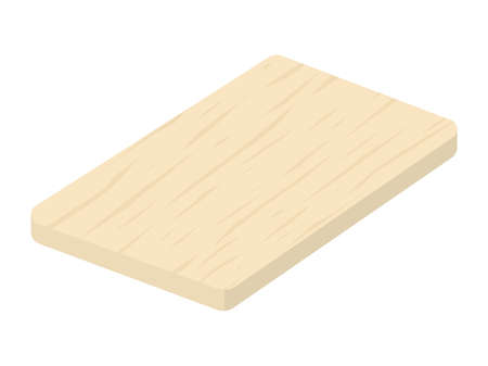 Illustration of a wooden cutting board