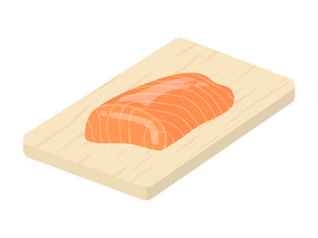 Illustration of the cut of the salmon