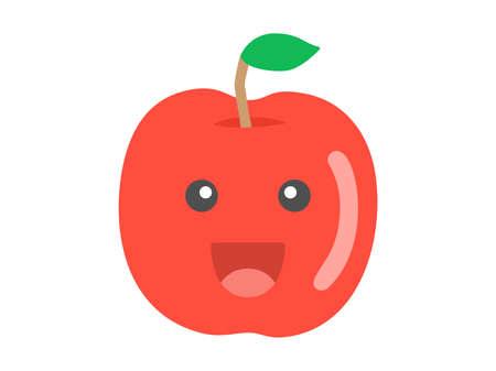 Illustration of the character of the apple Illusztráció