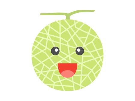 Illustration of a melon Illusztráció