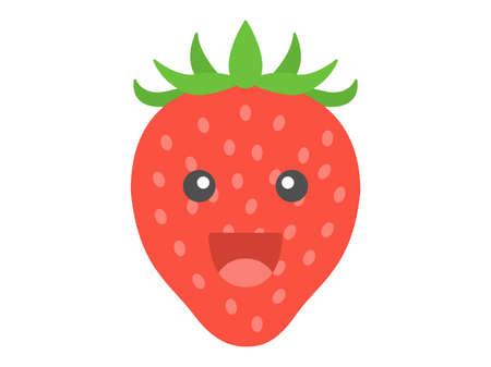 Illustration of the character of the strawberry Illusztráció