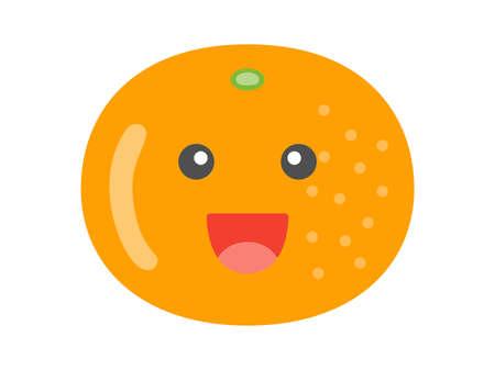 Illustration of a orange character
