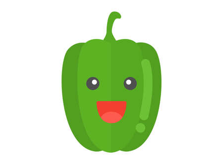 Illustration of a bell pepper's character