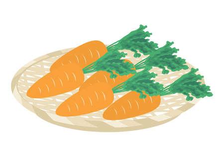 Illustration of carrots
