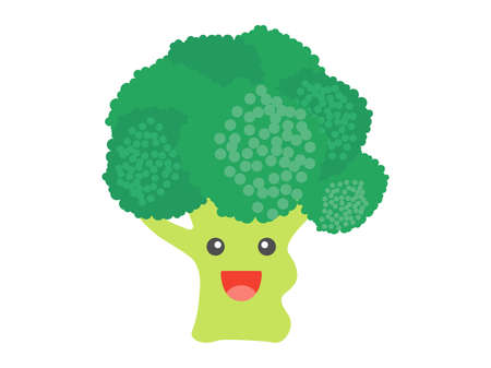 Illustrations of Broccoli Character Illusztráció