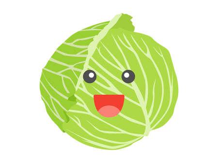 Illustrations of Cabbage Character Illusztráció