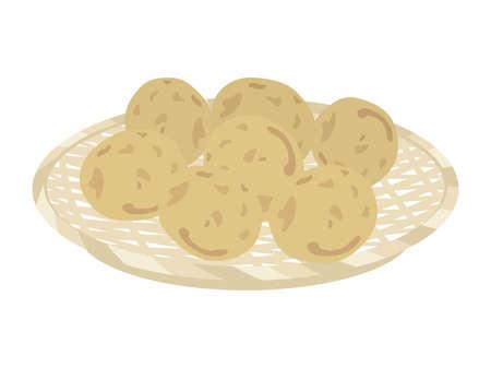 Illustration of potatoes