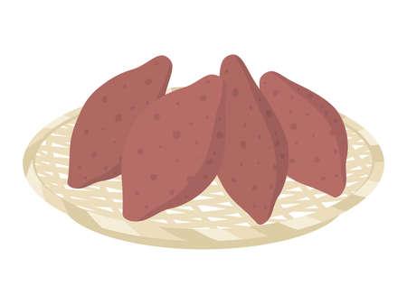 Illustration of sweet potato Illusztráció