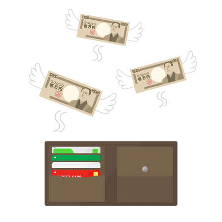 money wasted Illustrations