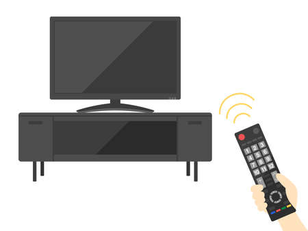 Illustrations of watching TV