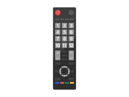 Illustration of a TV remote control