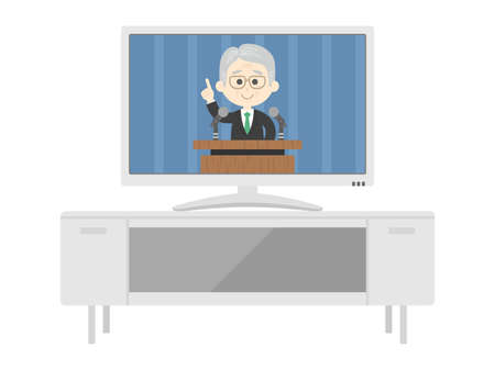 Illustrations of Tv and TV Stand