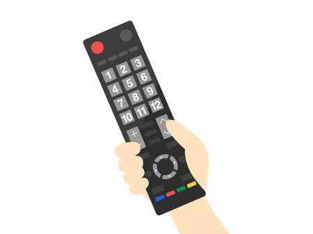 Illustration with TV remote control