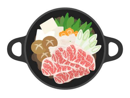 Illustration of Sukiyaki Nabe