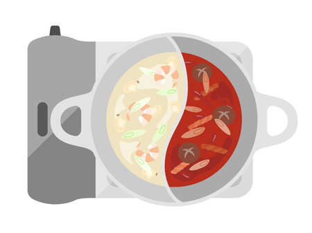 Illustrations of hot pot dishes