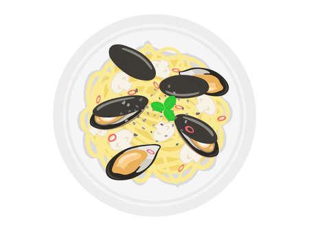 Mussel Pasta Illustrations