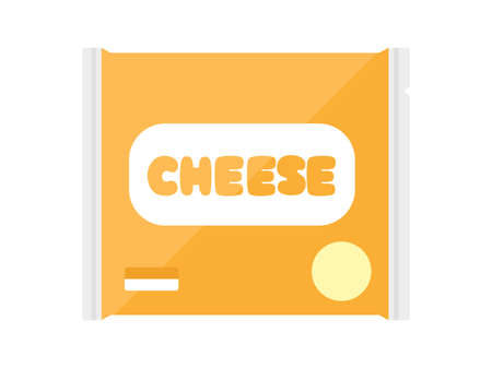 Illustration of sliced cheese in a bag
