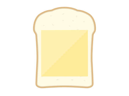 Illustration of bread with cheese