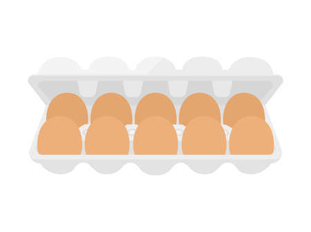 Illustration of a red egg in a pack