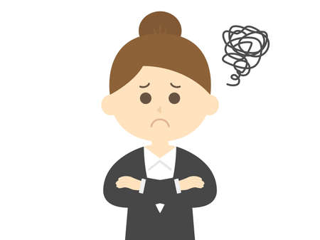 Illustration of a business woman who suffers