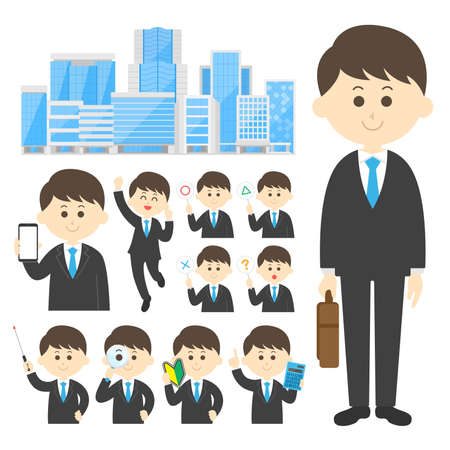 Illustration set of businessmen Illusztráció