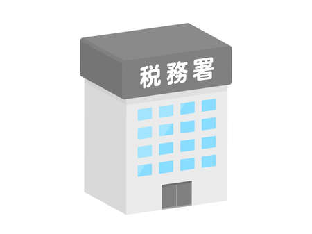 Three-dimensional icon illustration of the tax office