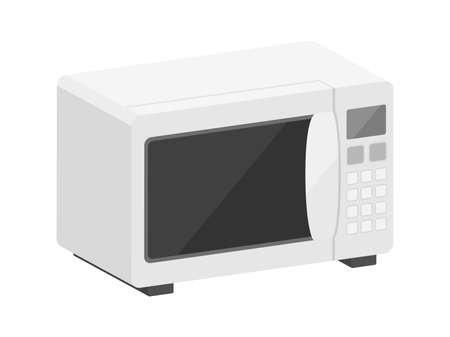 Three-dimensional illustration of a microwave oven