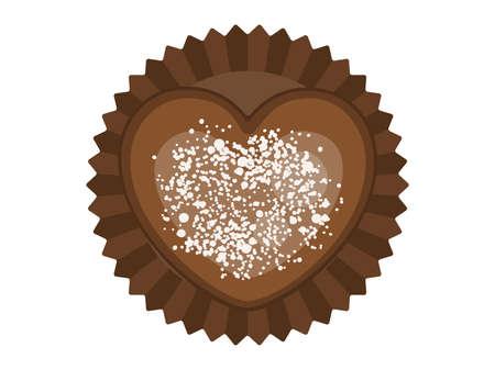 Heart shaped chocolate illustration Illusztráció