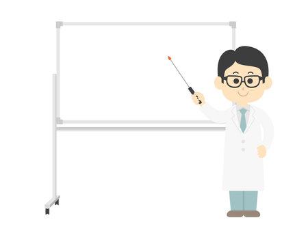 Doctor's illustration explained on whiteboard