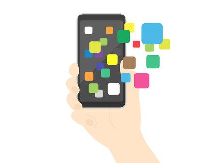 Illustrations using applications on smartphones