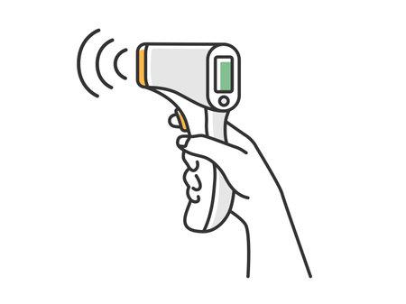 Illustration measured with infrared thermometer Vektoros illusztráció