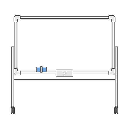 Whiteboard illustration on casters