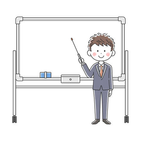 Illustration of a Japanese doctor explained on a whiteboard