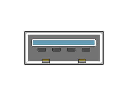 Illustration of USB port