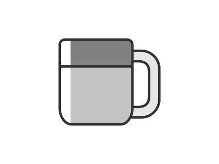 Stainless steel mug illustration Vektoros illusztráció