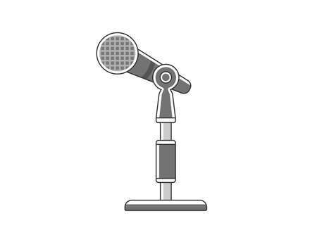 Illustration of a mic stand