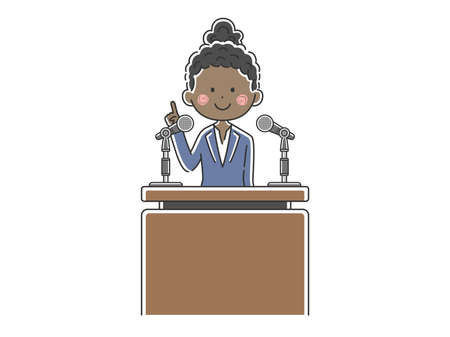 Illustration of black politicians speaking