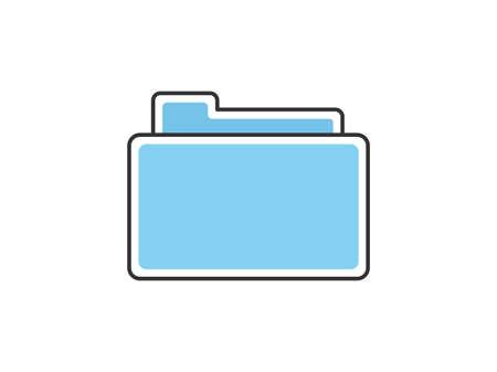 Document folder icon illustration