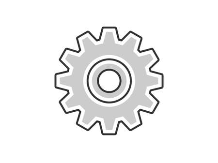 Gear icon illustration Illustration